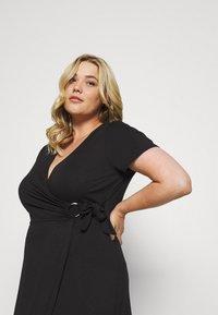 Simply Be - ORING DRESS - Vestito di maglina - black - 3