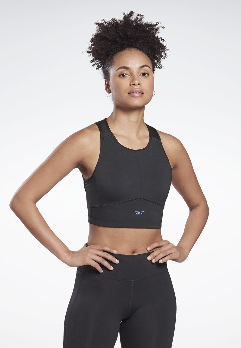 Reebok - ONE SERIES RUNNING WORKOUT HIGH SUPPORT - Reggiseno sportivo - black