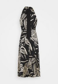 Milly - ADRIAN PALM BURNOUT DRESS - Shift dress - black/neutral - 9