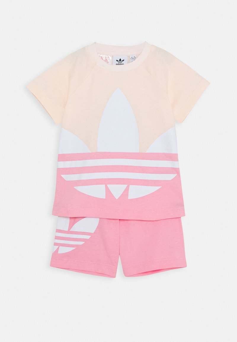 adidas Originals - BIG TREFOIL SET - Short - pink tint/light pink/white