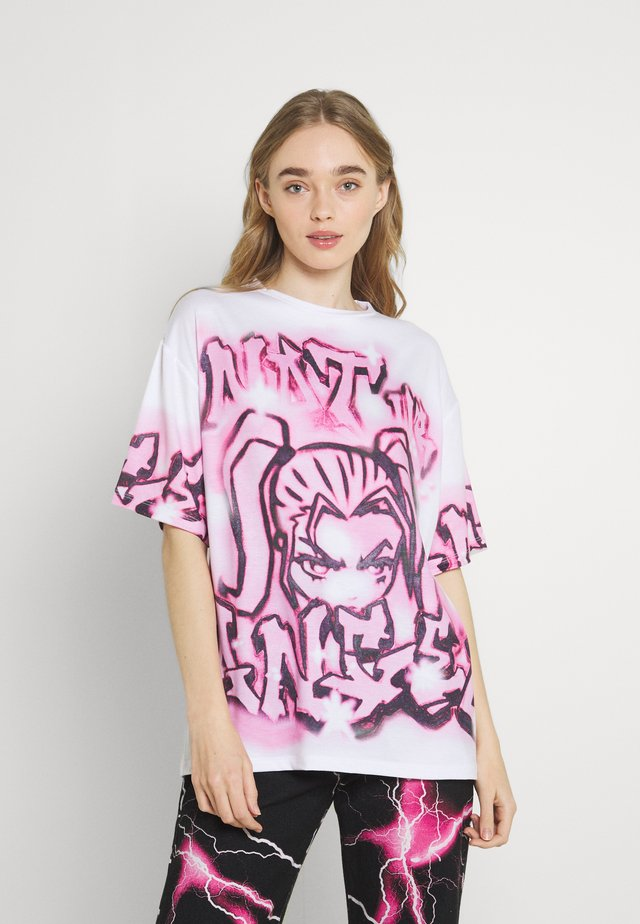 NOT YOUR - Print T-shirt - pink