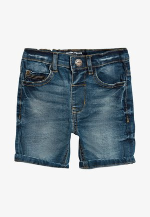 Denim shorts - mottled blue