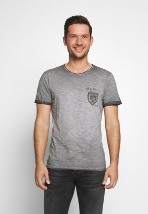 STATE ROUND - T-shirt con stampa - anthra