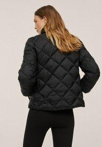 Mango - PIUMINO ROMBI - Winter jacket - nero - 2