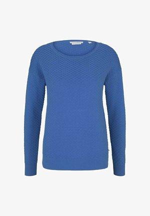 MIT WAFFELSTRU - Pullover - mid blue