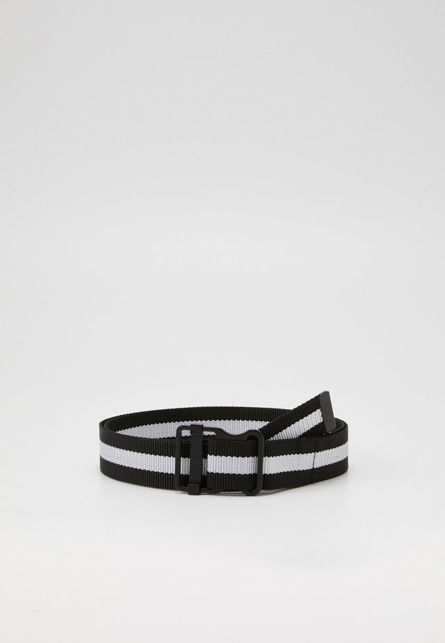 EASY BELT WITH STRIPES - Cintura - black/white
