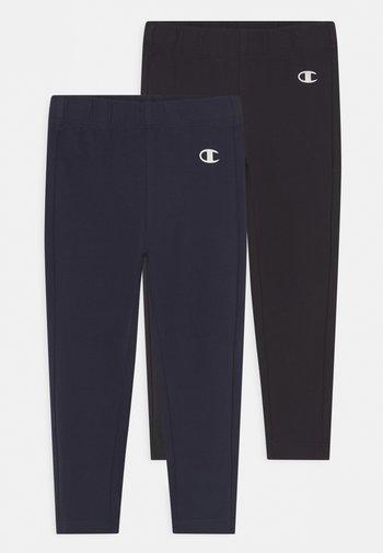 AMERICAN CLASSICS PANTS 2 PACK UNISEX - Leggings - Trousers - black/navy