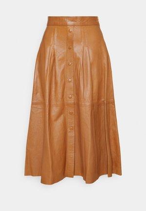 SEEDA - Áčková sukně - cognac