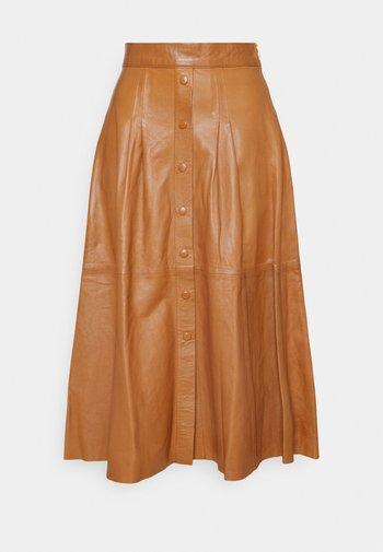 SEEDA - A-line skirt - cognac