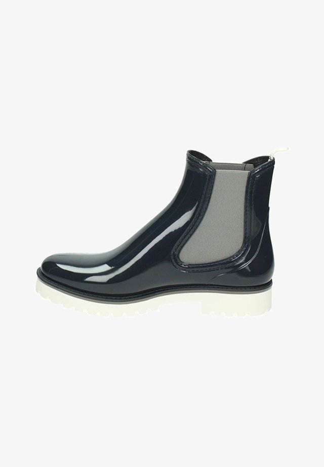 Platform ankle boots - blau