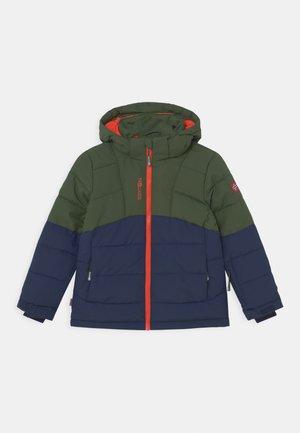GRYLLEFJORD UNISEX - Winter jacket - forest green/navy/flame orange