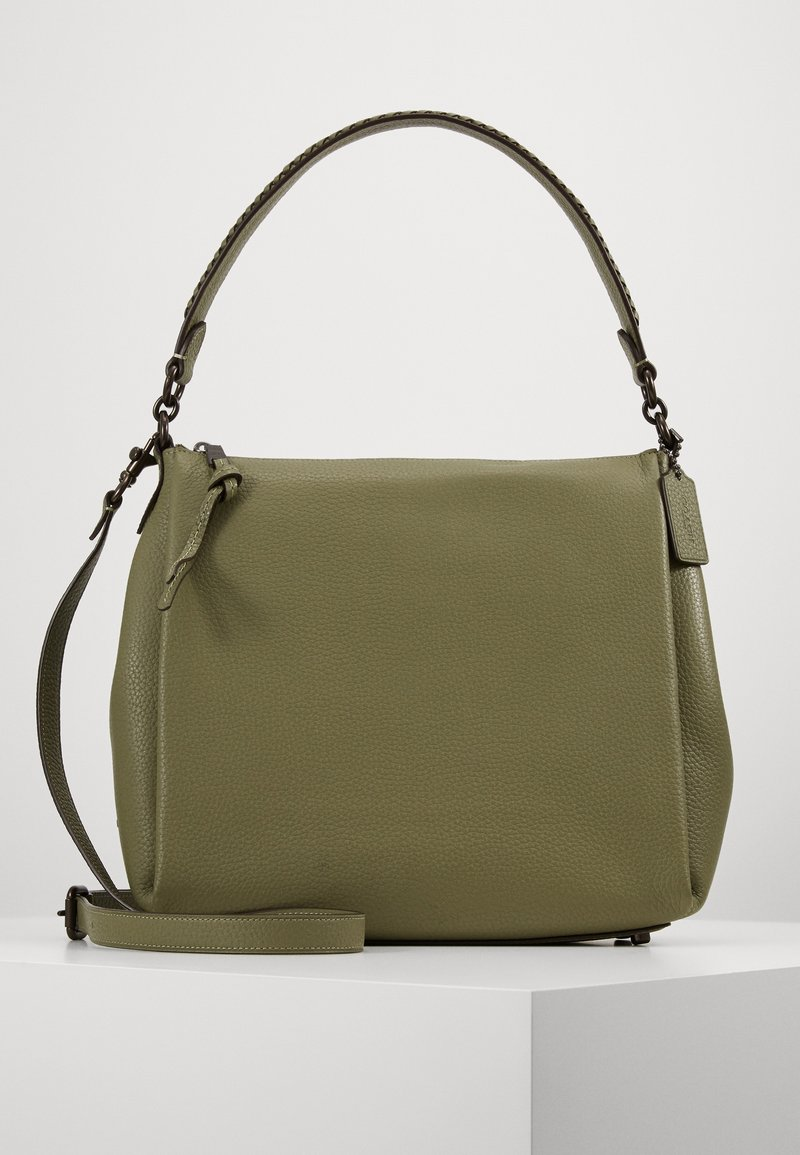 Coach - WHIPSTITCH DETAIL SHAY SHOULDER BAG - Handbag - light fern