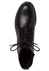 Tamaris - Šněrovací kotníkové boty - black uni - 2