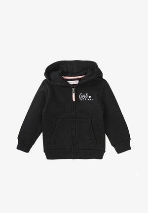 HOODIE - Sweater met rits - black