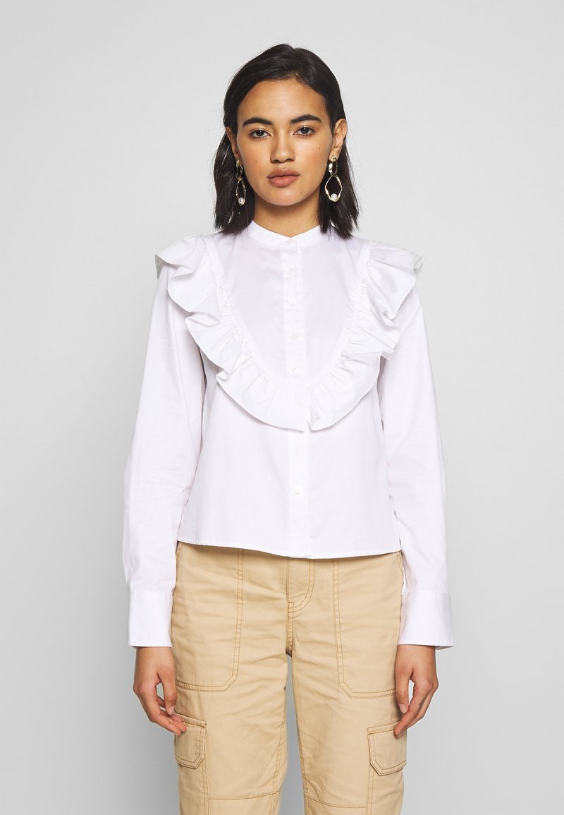 Who What Wear - THE RUFFLE - Blouse - white
