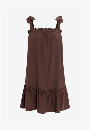 Denim dress - dark brown