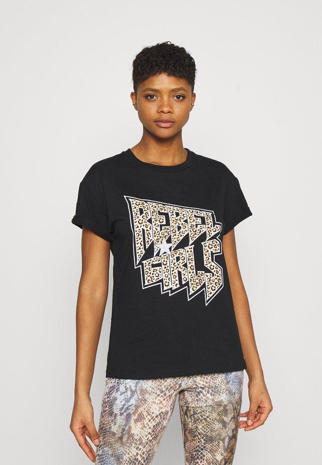 GIRLS BOXY TEE - T-shirt print - black
