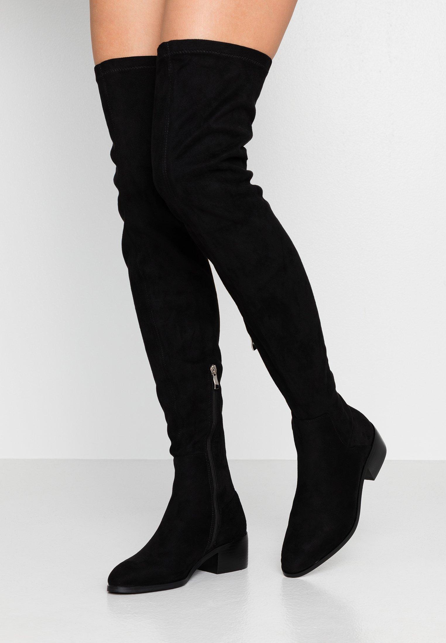Even&Odd Wide Fit Overknee laarzen black Zalando.nl