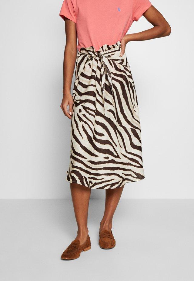 SKIRT - Áčková sukně - dark brown