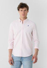 Scalpers - Shirt - pink stripes - 0