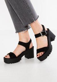 Coolway - LANA - Platform sandals - black - 0