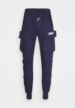PANTS WITH MULTIPLE POCKETS - Cargobukse - navy