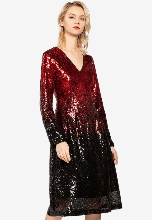 Cocktail dress / Party dress - red/black