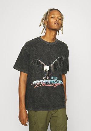 EAGLE T-SHIRT - Print T-shirt - washed black