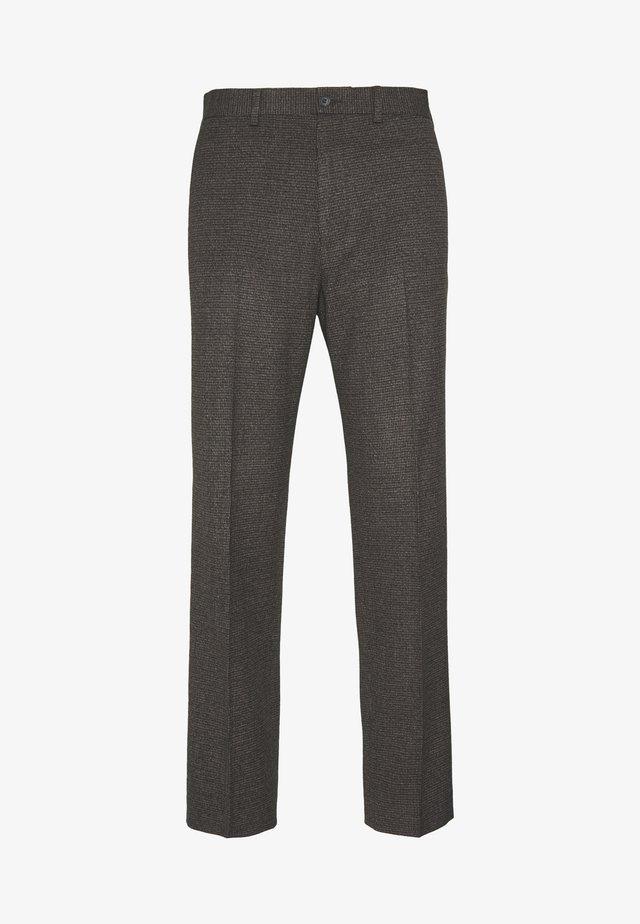 CHECKFLAT FRONT TROUSER - Pantalon classique - brown