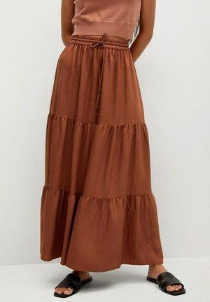 BAMBU - Maxi skirt - brændt orange