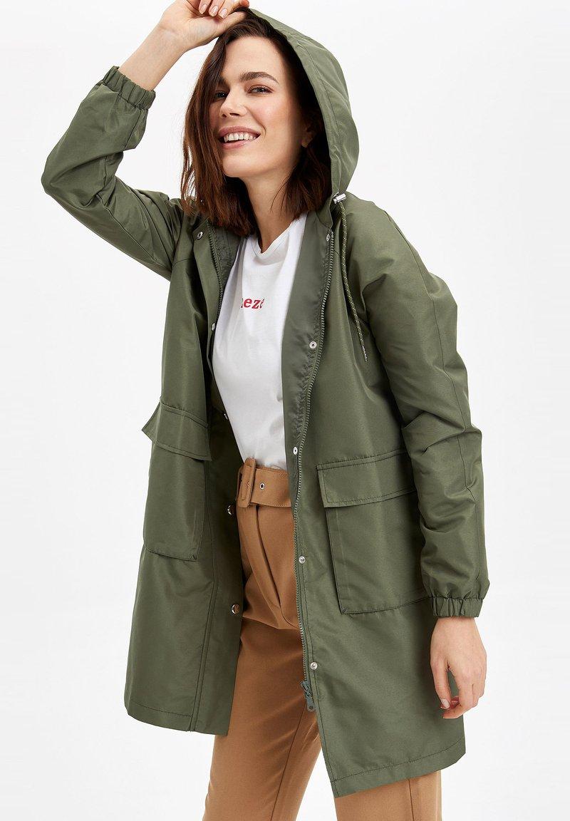 DeFacto - Płaszcz wełniany /Płaszcz klasyczny - khaki
