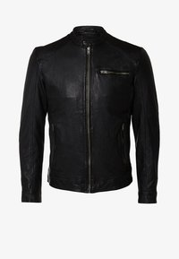 Selected Homme - Kožená bunda - black - 5