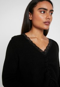 Missguided Petite - RUCHED FRONT JUMPER - Maglione - black - 3