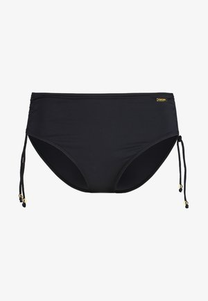 PANTS GATHERED - Bikini bottoms - black