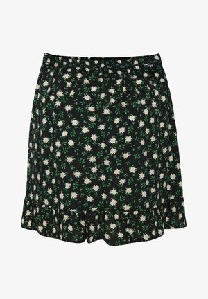 MET DESSIN - A-line skirt - black, green, white
