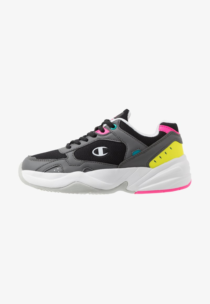 Champion - LOW CUT SHOE PHILLY - Sports shoes - black/grey/yellow