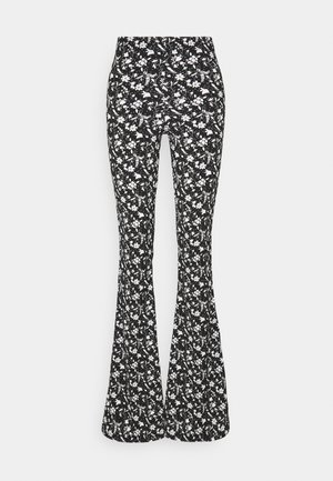 FLORAL FLARE - Pantalon classique - black