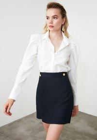 Trendyol - A-line skirt - navy blue - 4