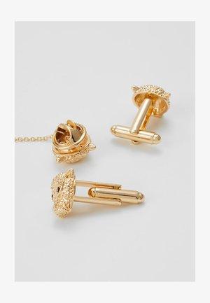 LION CUFFLINK COLLAR TIP SET - Jiné - gold-coloured