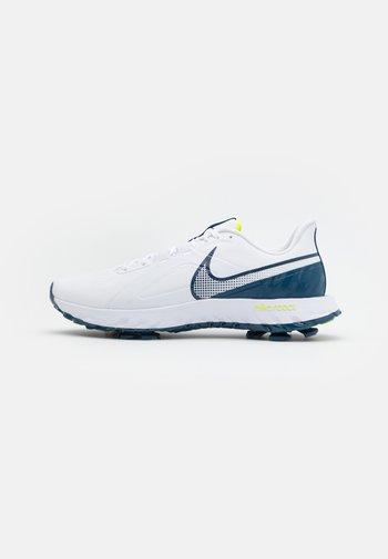 REACT INFINITY PRO - Golf shoes - white/valerian blue/lemon
