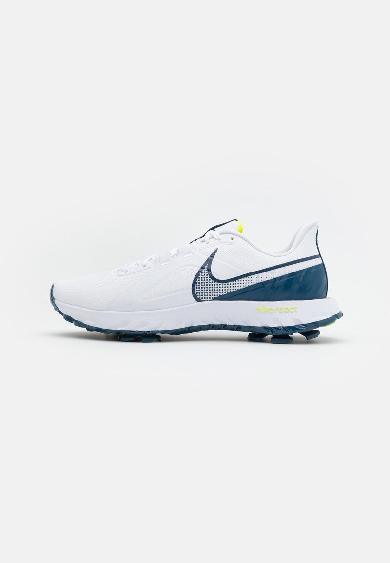 Nike Golf - REACT INFINITY PRO - Obuwie do golfa - white/valerian blue/lemon