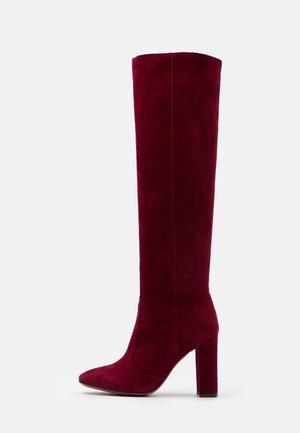 BOOT - High Heel Stiefel - burgundy