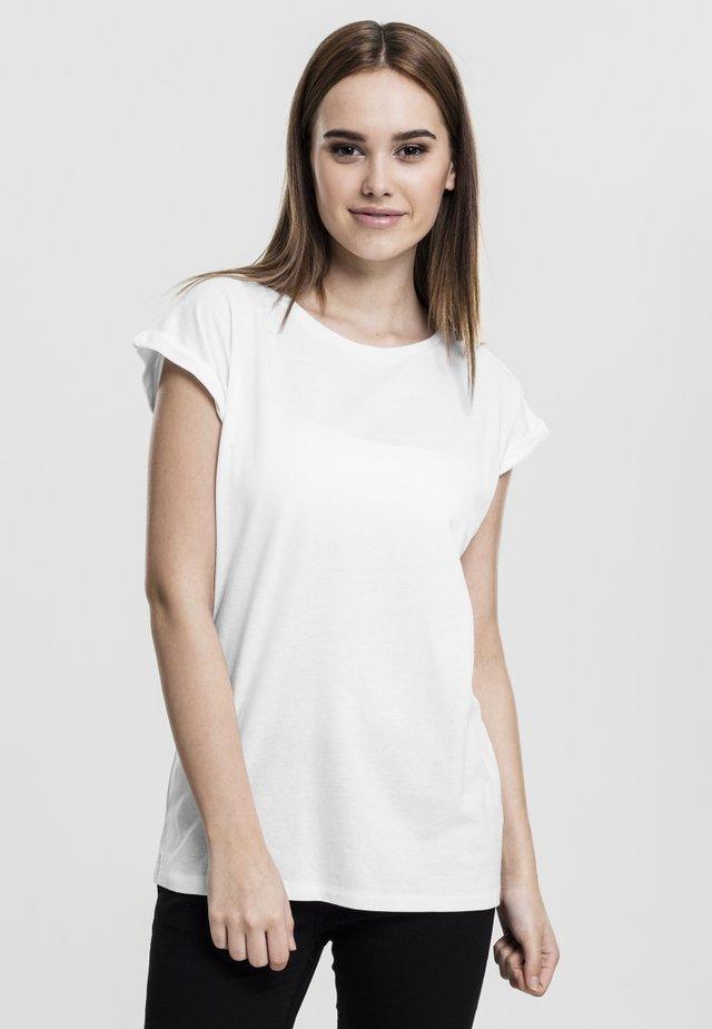 LADIES EXTENDED SHOULDER - T-shirt basique - white