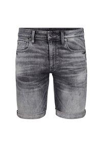 G-Star - 3301 SLIM - Denim shorts - vintage basalt destroyed - 3