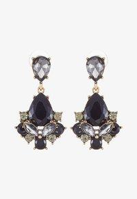 sweet deluxe - TERZIA - Earrings - antikgold-coloured/black - 3