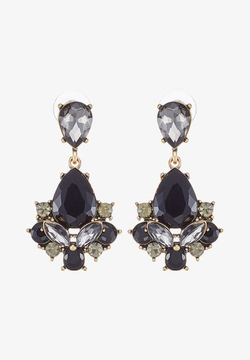 TERZIA - Earrings - antikgold-coloured/black