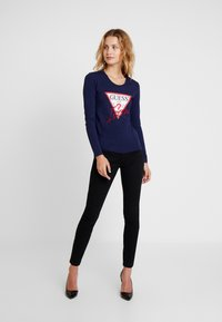 Guess - ICON TEE - Long sleeved top - blue jam - 1