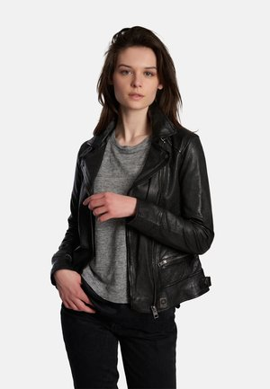 VIDEO - Leather jacket - black