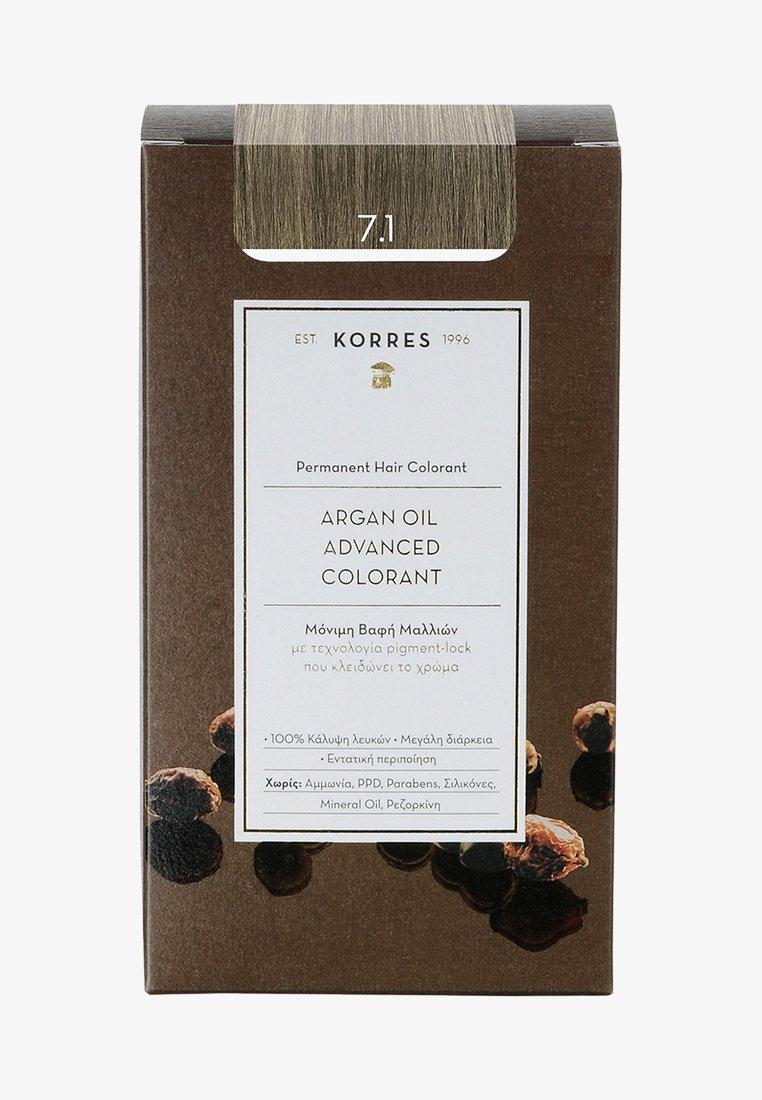 Korres - ARGAN OIL ADVANCED COLORANT - Hair colour - 7.1 ash blonde