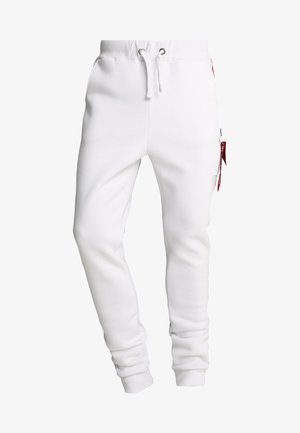 JOGGER TAPE - Tracksuit bottoms - white